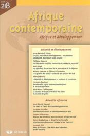 Afrique Contemporaine N.218 - Couverture - Format classique