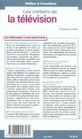 Les Metiers De La Television - 4ème de couverture - Format classique