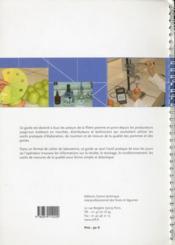 Pomme-poire ; de la récolte au conditionnement ; outils, pratiques - 4ème de couverture - Format classique