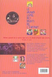 Le Grand Livre Des Droits De L'Enfant (édition 2005) - 4ème de couverture - Format classique