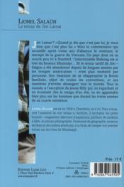 Le retour de Jim Lamar - 4ème de couverture - Format classique