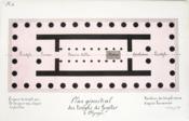 Plan géométral du Temple de Jupiter à Olympie [ Beau lavis original ] On joint : Coupe longitudinale du Temple de Jupiter à Olympie. - Couverture - Format classique