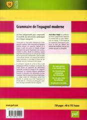 Grammaire de l'espagnol moderne (6e édition) - 4ème de couverture - Format classique
