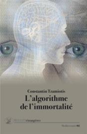 L'algorithme de l'immortalité - Couverture - Format classique
