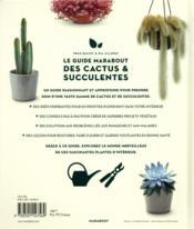 Le guide Marabout des cactus et succulentes ; comment choisir, entretenir et profiter de 200 cactus et succulentes - 4ème de couverture - Format classique