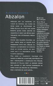 Abzalon - vol01 - 4ème de couverture - Format classique