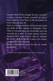 Jack perdu et le royaume des ombres - 4ème de couverture - Format classique