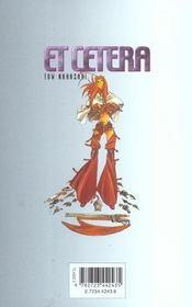 Et cetera t.3 - 4ème de couverture - Format classique
