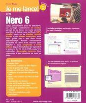 Je Me Lance Avec Nero 6 - 4ème de couverture - Format classique