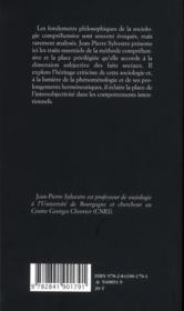 Le sens de l'action ; les fondements de la compréhension - 4ème de couverture - Format classique