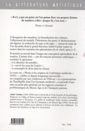 Les origines de l'esthétique médiévale - 4ème de couverture - Format classique