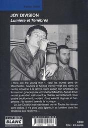 Joy Division ; lumière et ténèbres - 4ème de couverture - Format classique