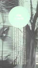 Pluie et papier - 4ème de couverture - Format classique