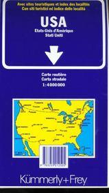 Etats-Unis - 4ème de couverture - Format classique