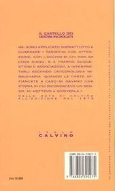 Le castello dei destini incrociati - 4ème de couverture - Format classique