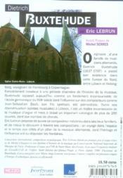 Dietrich Buxtehude - 4ème de couverture - Format classique