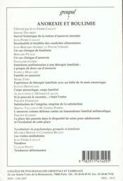 Groupal 7 - Anorexie Et Boulimie - Collectif/Groupal 7 - Anorexie Et Boulimie - 4ème de couverture - Format classique