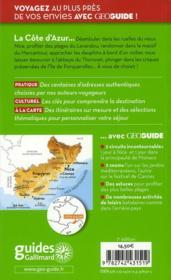 Geoguide ; Côte D'Azur - 4ème de couverture - Format classique