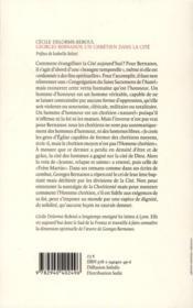 Bernanos, un chrétien dans la cité - 4ème de couverture - Format classique