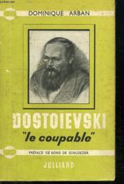 Dostoievski Le Coupable. - Couverture - Format classique