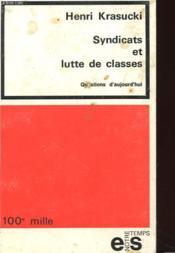 Syndicats Et Lutte De Classes - Couverture - Format classique