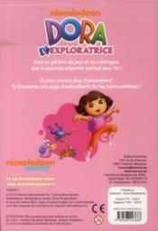 Dora l'exploratrice ; bloc de jeux et coloriages avec stickers - 4ème de couverture - Format classique