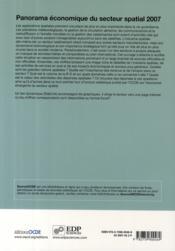 Panorama économique du secteur spatial - 4ème de couverture - Format classique