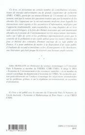 Regulation Environnementale ; Jeux Coalitions Contrats - 4ème de couverture - Format classique