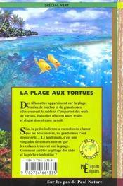 La plage aux tortues - 4ème de couverture - Format classique