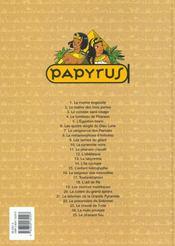 Papyrus t.25 ; le pharaon fou - 4ème de couverture - Format classique
