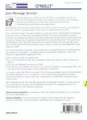 Java Message Service - 4ème de couverture - Format classique