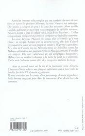 Nitocris, reine d'Egypte t.2 ; la pyramide rouge - 4ème de couverture - Format classique