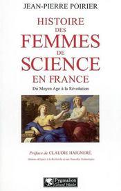 Histoire des femmes de science en france du moyen âge à la révolution - Intérieur - Format classique