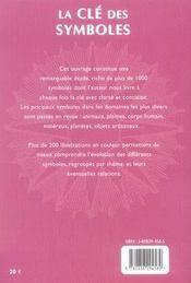 La Cle Des Symboles - 4ème de couverture - Format classique
