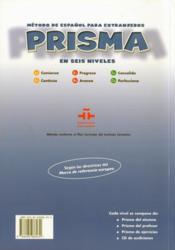 Prisma ; comienza ; alumno, nivel A1 - 4ème de couverture - Format classique
