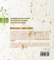 Boissons naturelles - 4ème de couverture - Format classique