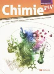 Chimie 3e/4e - Manuel Sciences De Base Et Sciences Generales - Couverture - Format classique