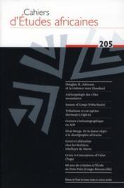 Cahiers d'études africaines N.205 - Couverture - Format classique