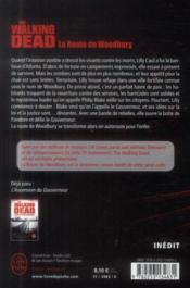 The walking dead t.2 ; la route de Woodbury - 4ème de couverture - Format classique