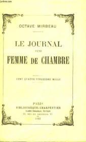 Le Journal D'Une Femme De Chambre - Couverture - Format classique