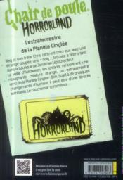 Horrorland t.16 ; l'extraterrestre de la planète cinglée - 4ème de couverture - Format classique