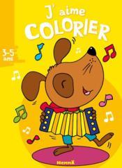 J'AIME COLORIER ; chien ; 3/5 ans - Couverture - Format classique