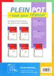 Organisation 1e Et Terminale Bac Pro Secretariat ; Livre-Pochette - 4ème de couverture - Format classique