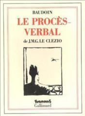 Le Proces Verbal - Couverture - Format classique