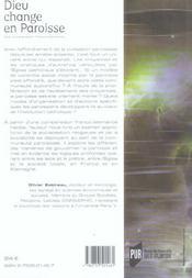 Dieu change en paroisse - 4ème de couverture - Format classique