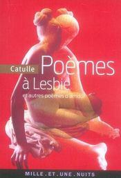 Poèmes à Lesbie et autres poèmes d'amour - Intérieur - Format classique