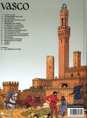Vasco t.2 ; le prisonnier de Satan - 4ème de couverture - Format classique