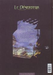 Le Deserteur T.1 ; Nuit De Chagrin - 4ème de couverture - Format classique