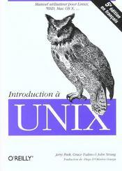 Introduction A Unix - Intérieur - Format classique