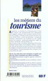 Les metiers t.230 ; tourisme - 4ème de couverture - Format classique
